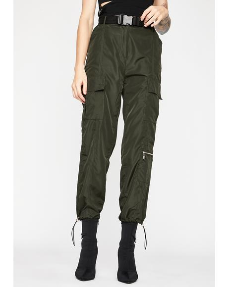 Kush Bookin' Flights Cargo Pants