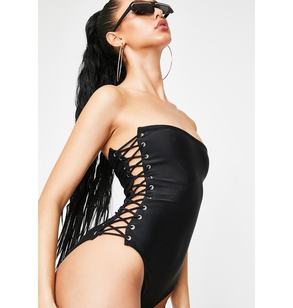 Poster Grl In Ur Mentions Strapless Swimsuit