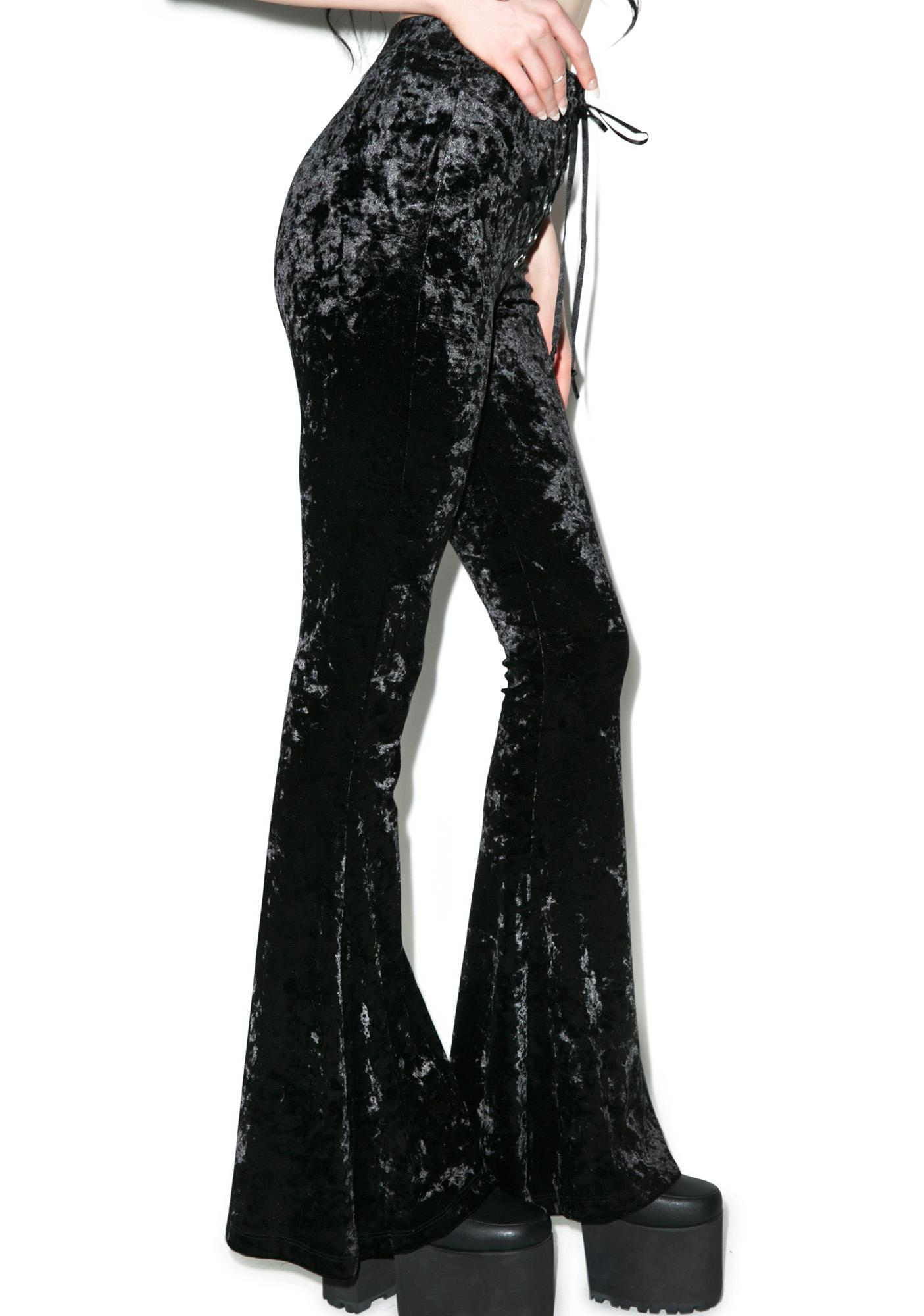 Widow Viva Velvet Bell Bottoms