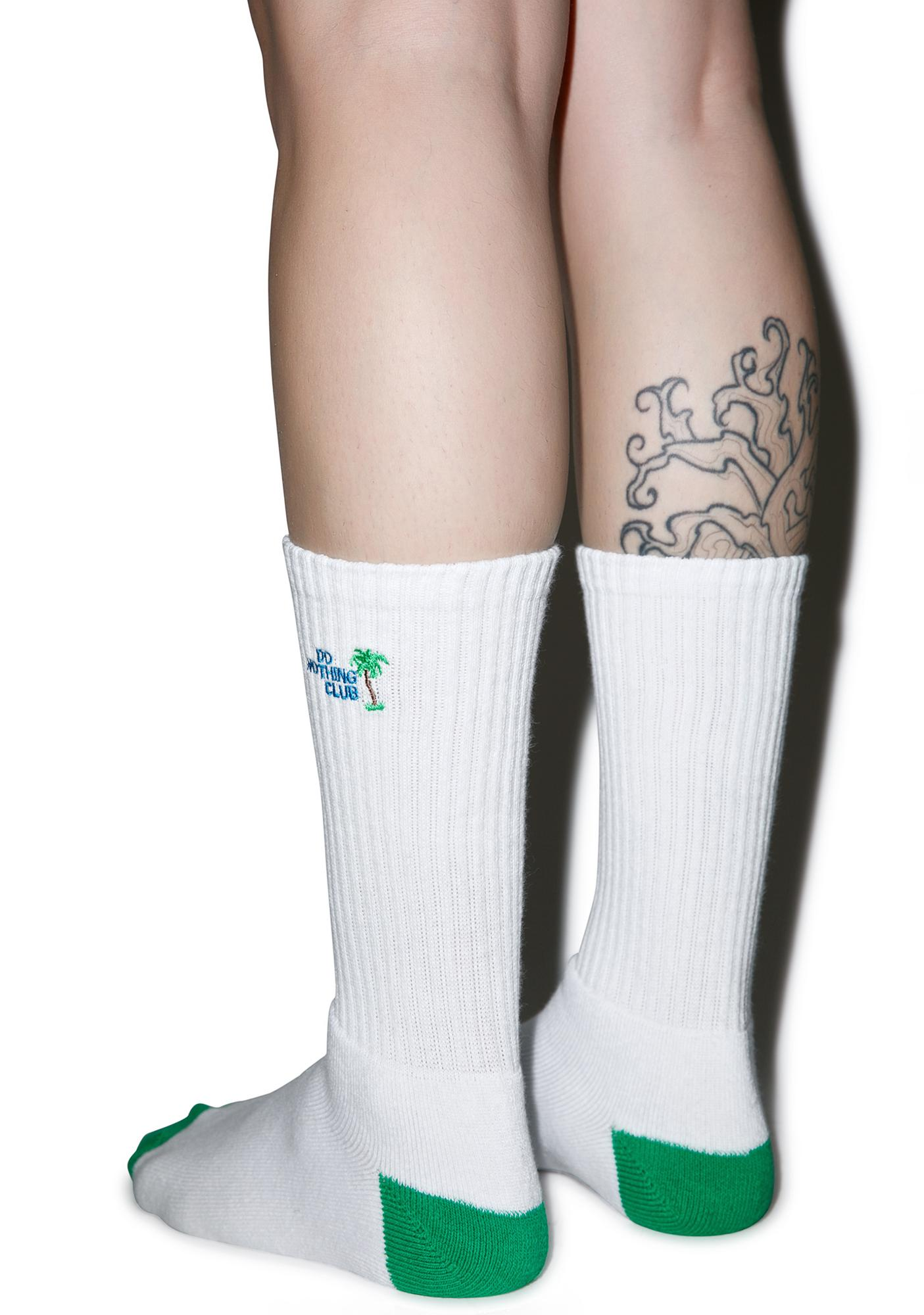 HUF Do Nothing Club Crew Socks