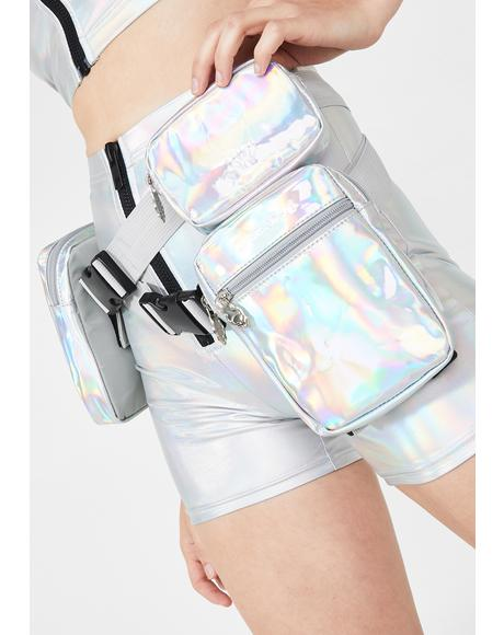 Holographic Cross Belt Bag