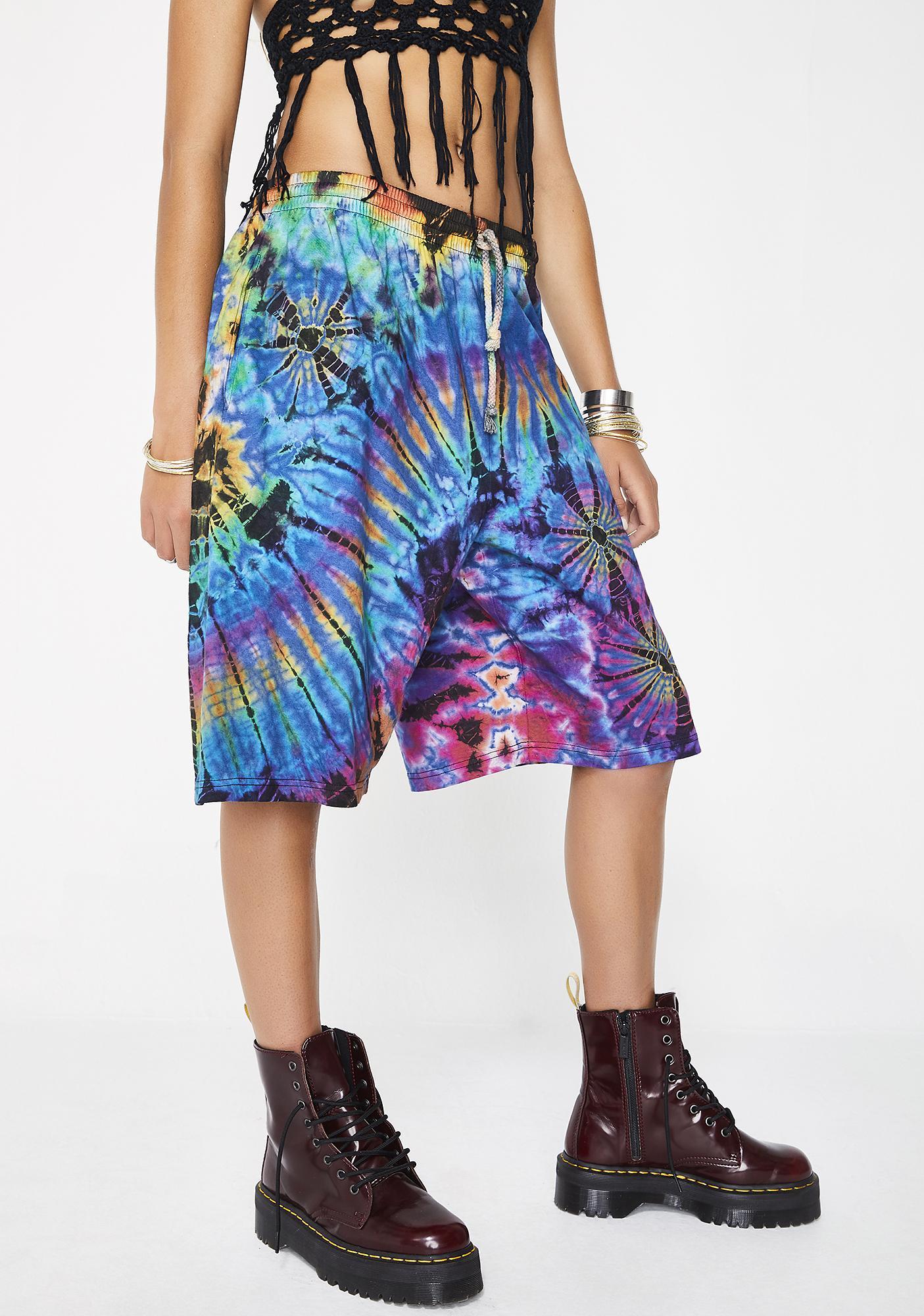 Mellow Vibes Tie Dye Shorts