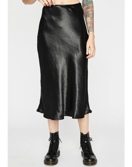 Midnight She's Timeless Midi Skirt