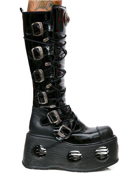 Daywalker Buckle Platform Boots