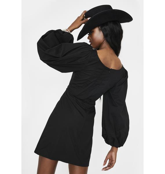 Glamorous Black Quarter Sleeve Mini Dress