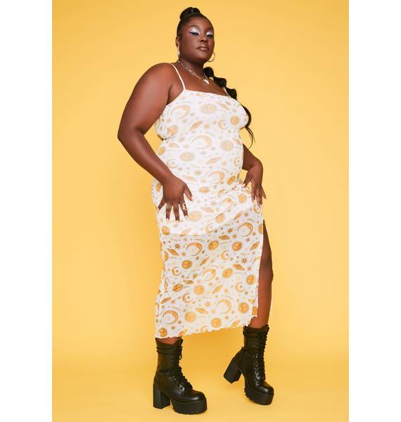 HOROSCOPEZ Lil Show Me A Sign Maxi Dress