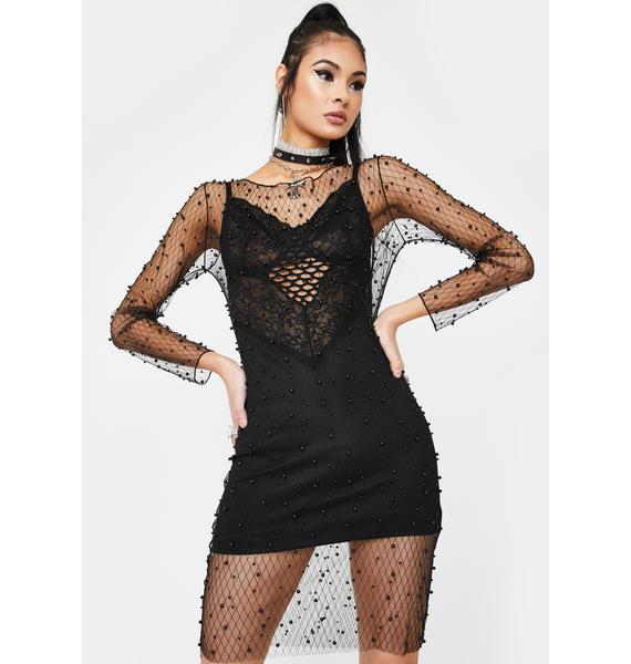 Kiki Riki Crash Into Me Fishnet Dress