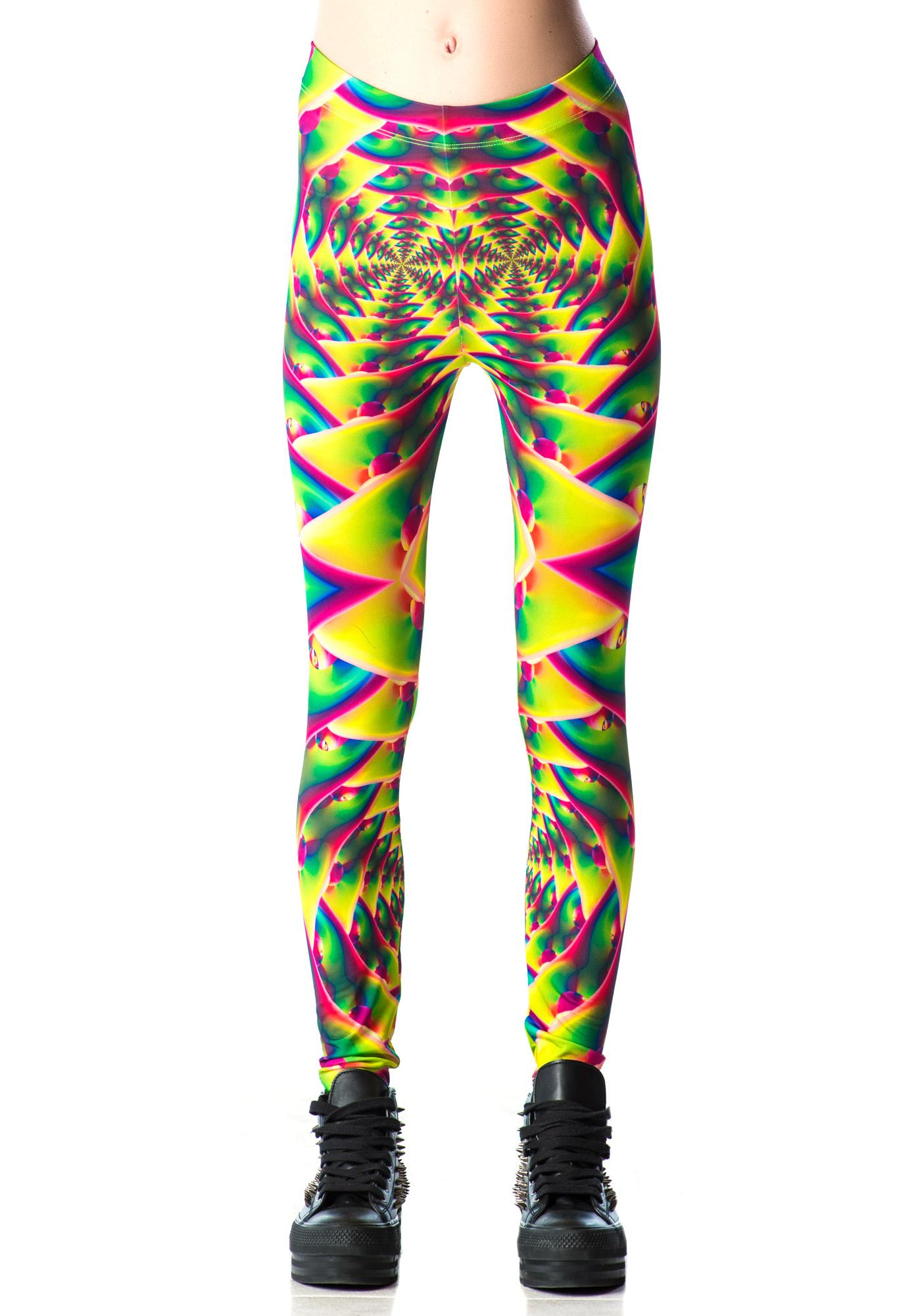 Lip Service Psychedelic Fractals Printed Leggings