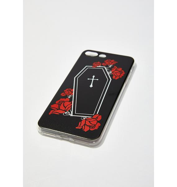 Witch Worldwide Coffin Roses iPhone Case