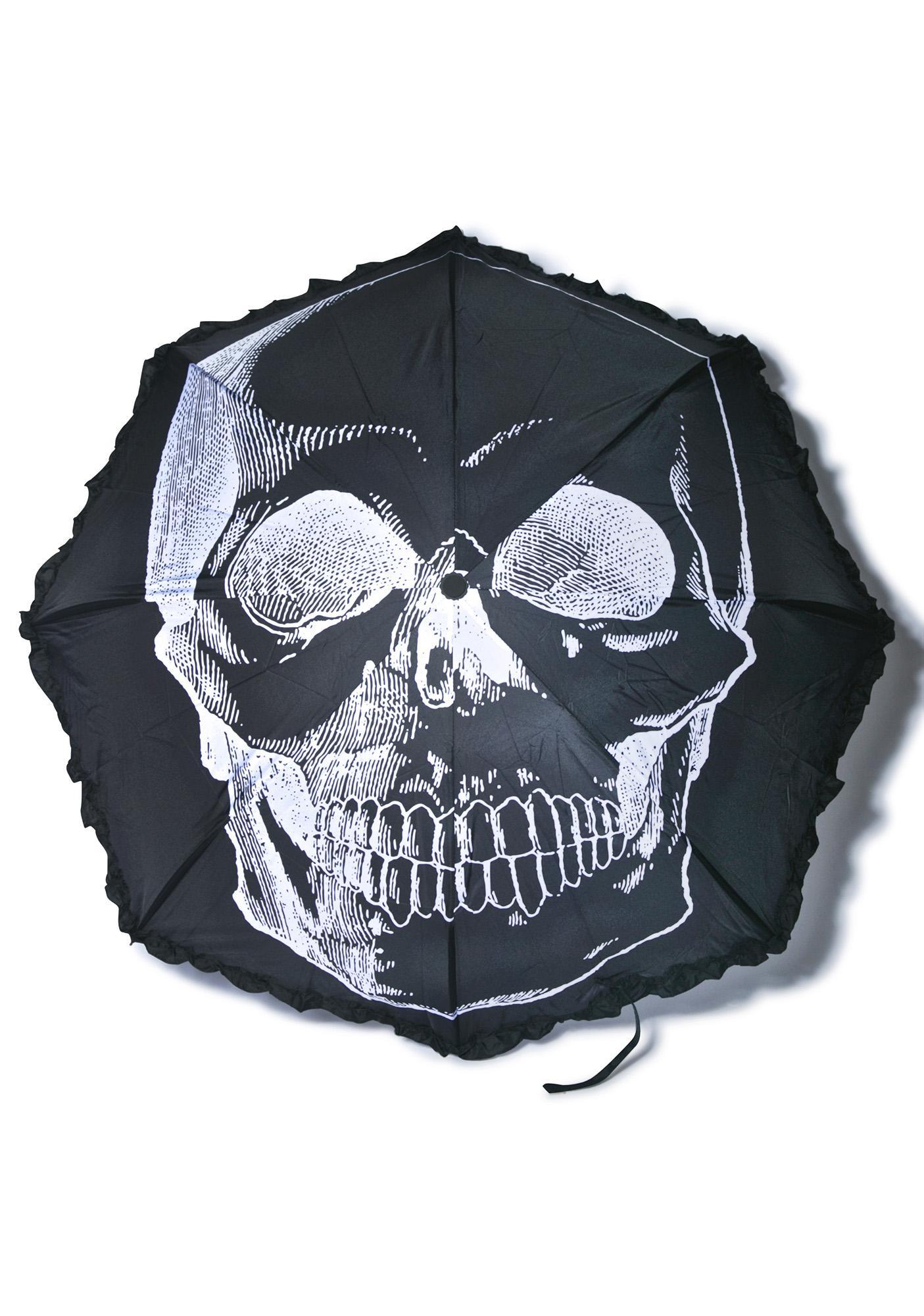 Sourpuss Clothing Skull Umbrella