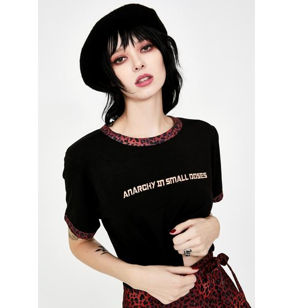 Fearless Illustration Realist Graphic Ringer Tee