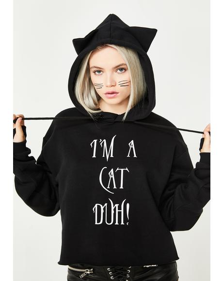 I'm A Cat Duh Graphic Hoodie