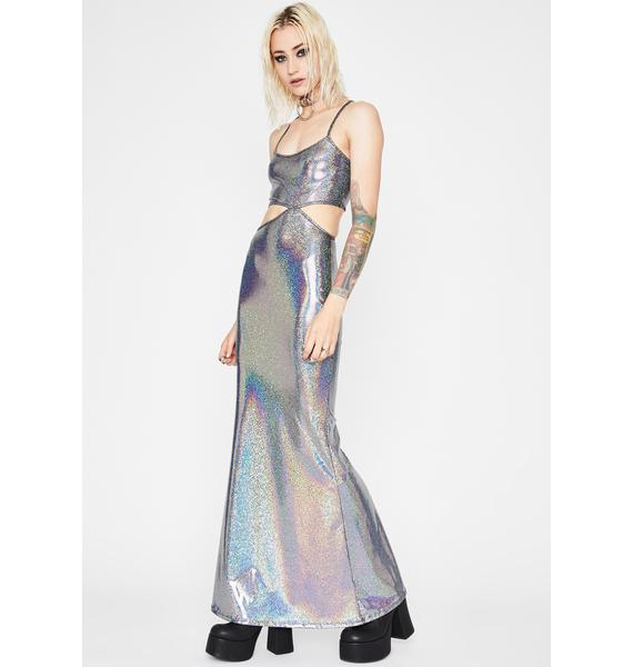 Mermaid Bliss Holographic Dress