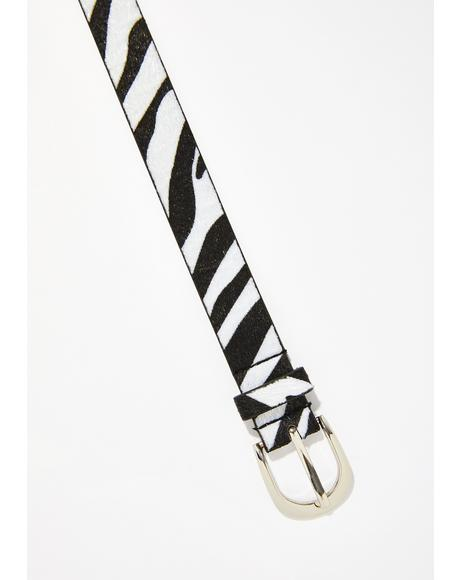Wild One Zebra Belt