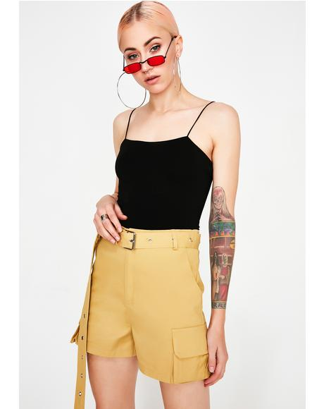 Warm Up A Notch Belted Shorts