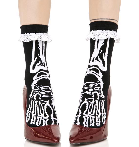 Killstar Morgue Ankle Socks