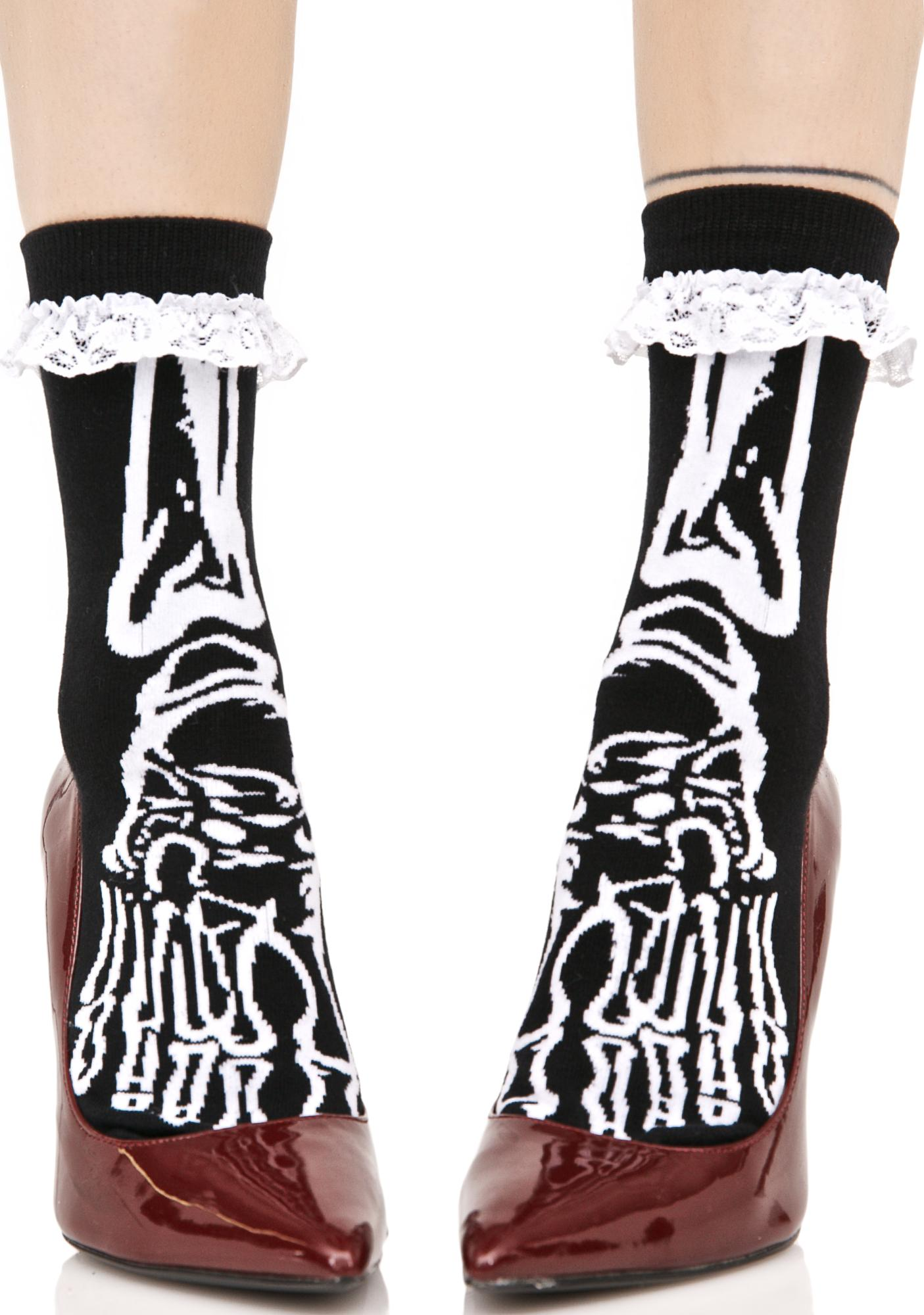 Killstar Morgue Ankle Socks