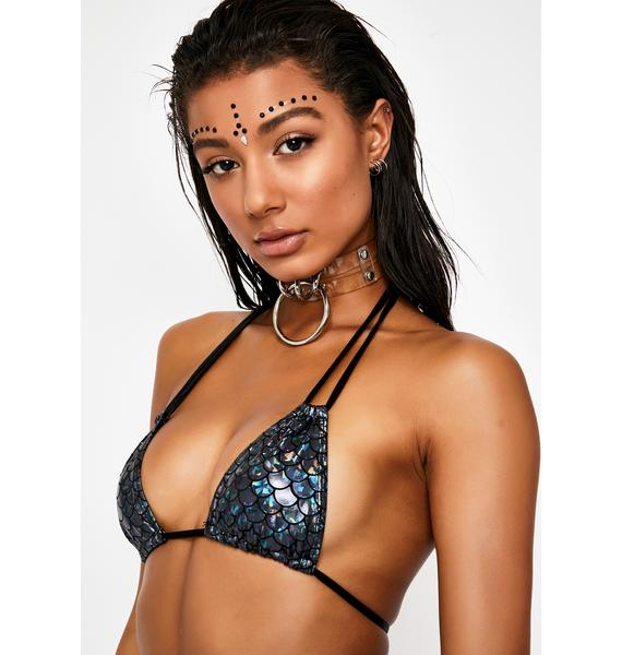 Sugarpuss Dark Waters Double Strap Bikini Top