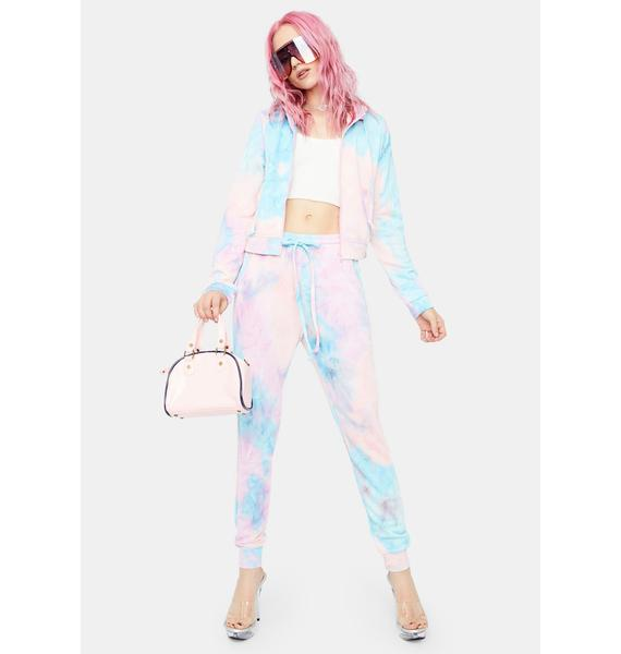 Berry Totally Radical Tie Dye Shorts And Jacket Set