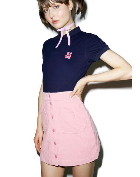 Heart Pocket Cord Skirt