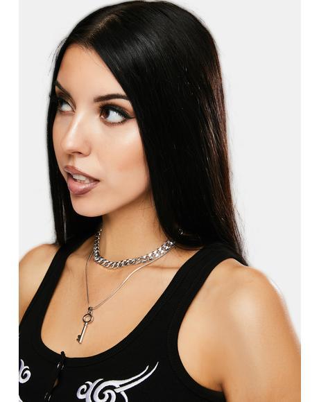 Brand New Key Layered Necklace