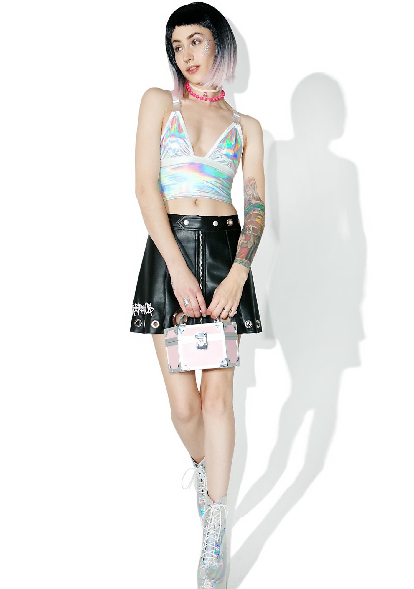 Current Mood Gravitational Hologram Crop Top