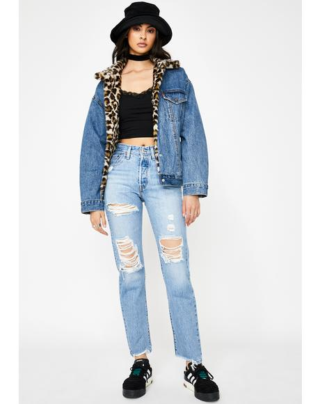 Luxor Street 501 Ripped Jeans