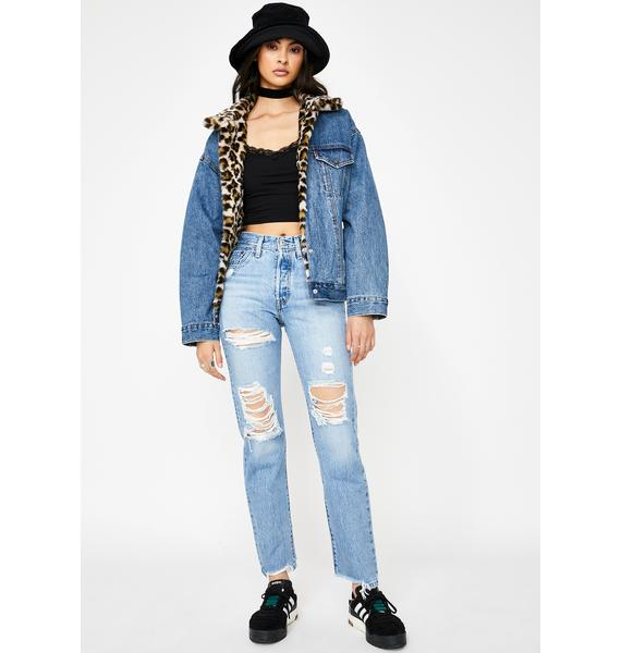 Levis Luxor Street 501 Ripped Jeans