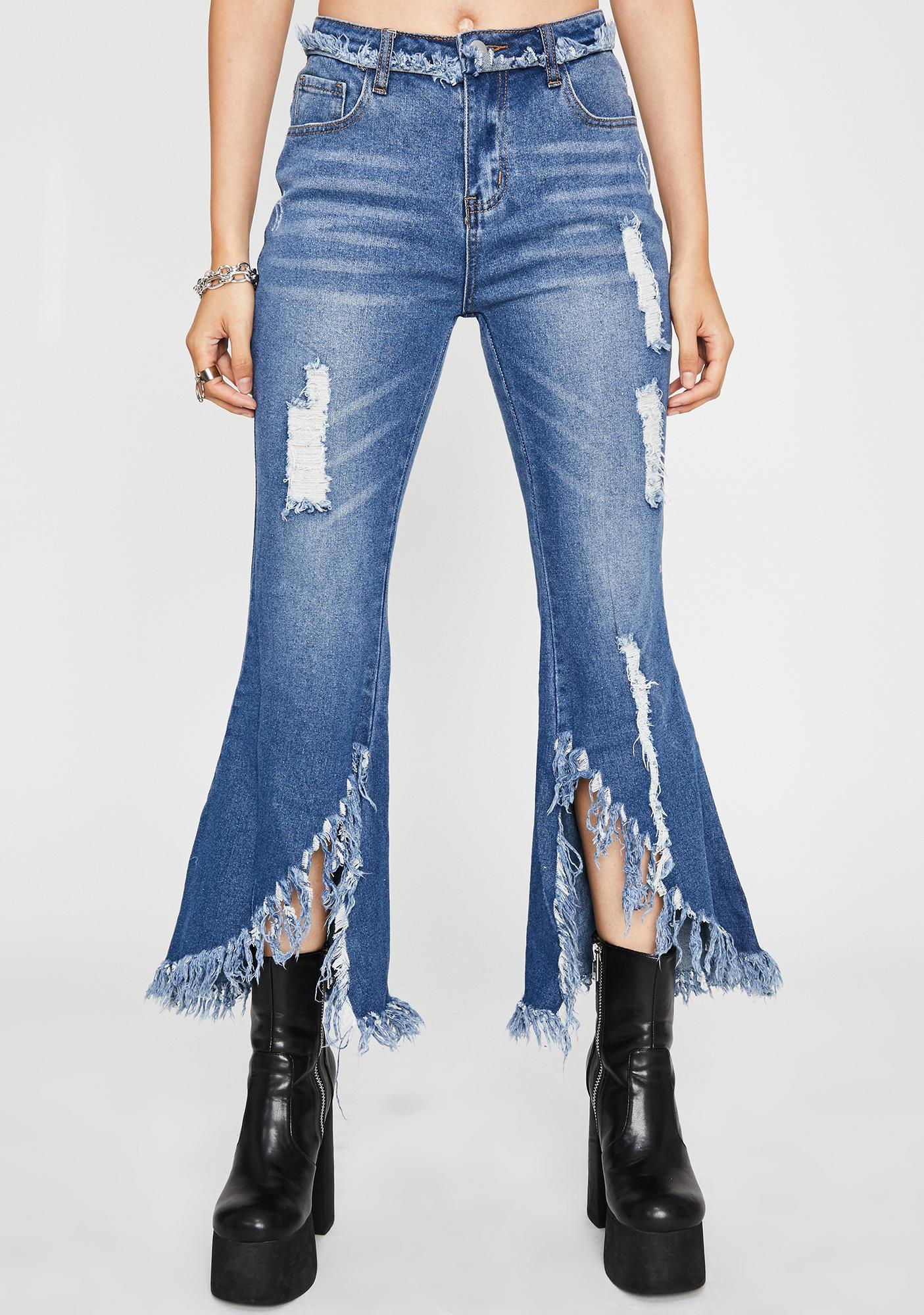Hitchhikin' Hottie Ripped Jeans