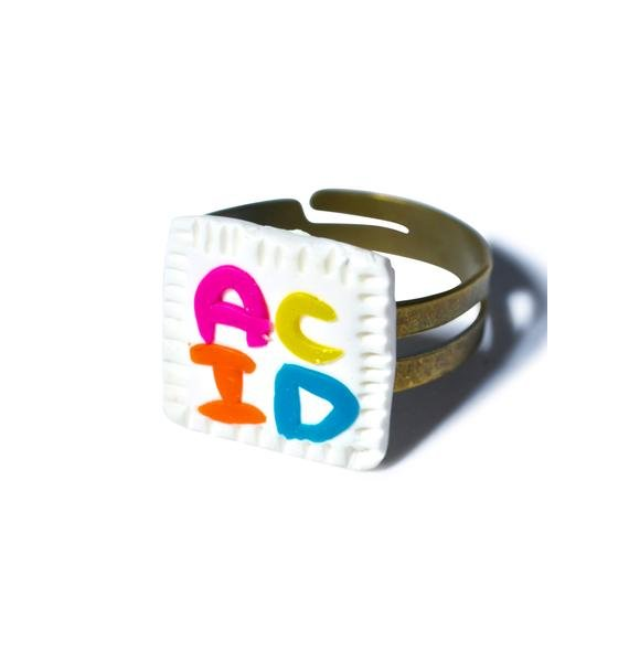 Wicked Hippie Acid Blotter Ring