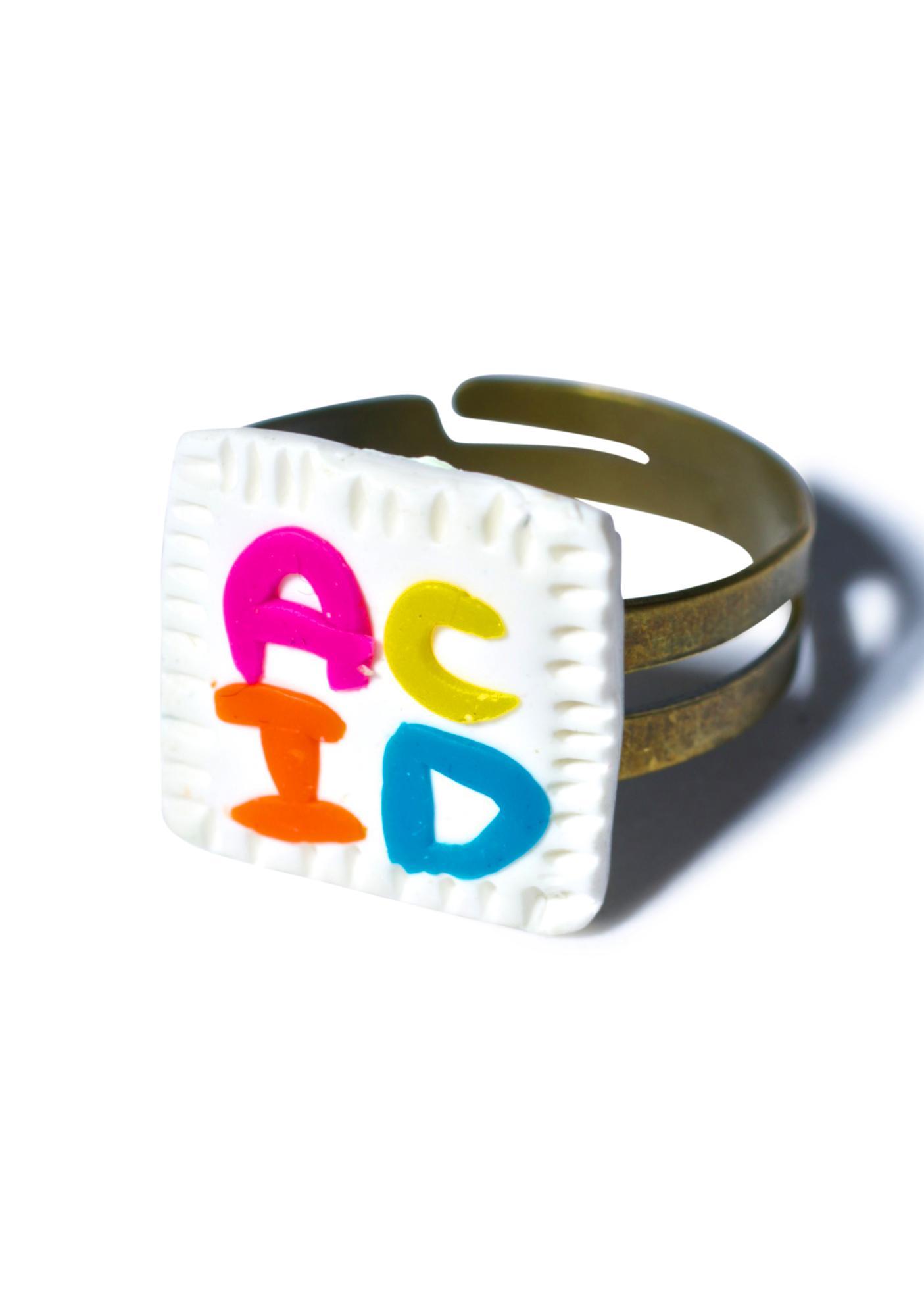 Wicked Hippie Acid Blotter Ring