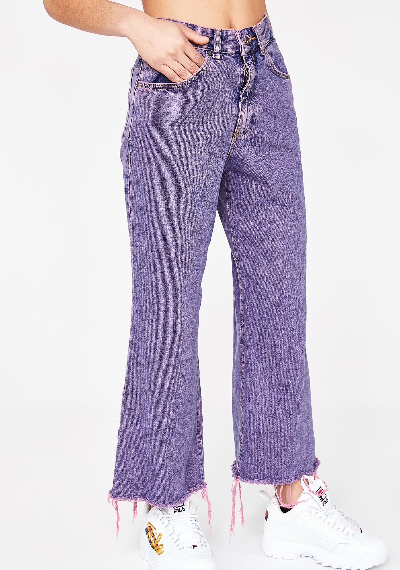 The Ragged Priest Overdyed Crop Jeans