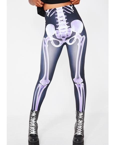 Babe To The Bone Skeleton Leggings