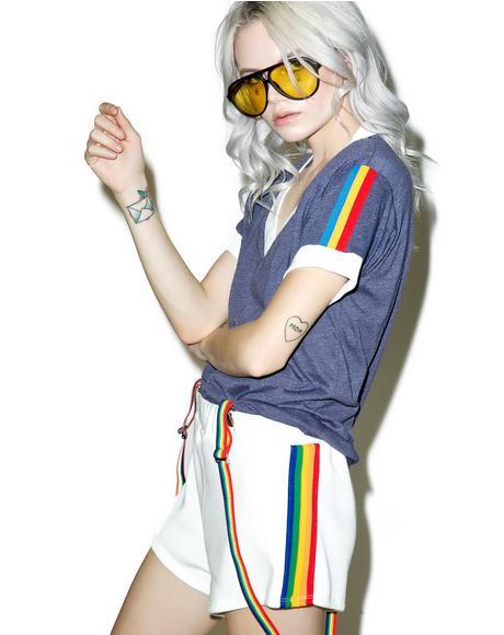 Rainbow Track Star Shorts