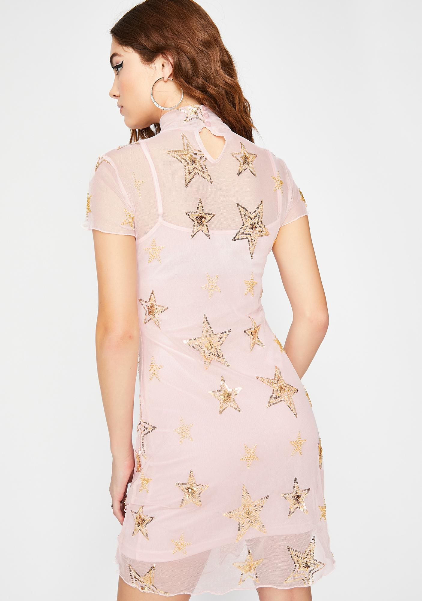 HOROSCOPEZ Blame The Stars Mesh Dress