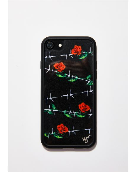 Barbed Rose iPhone Case