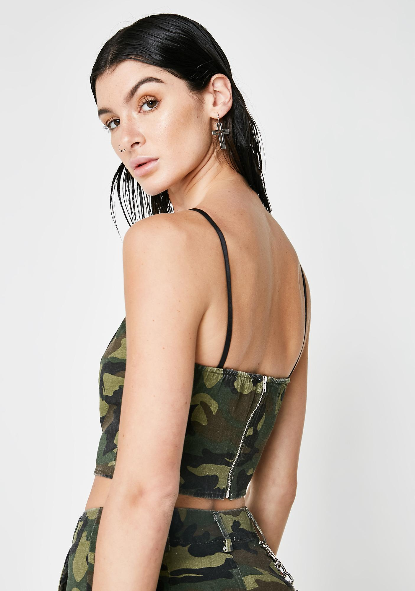 Play All Day Camo Crop Top