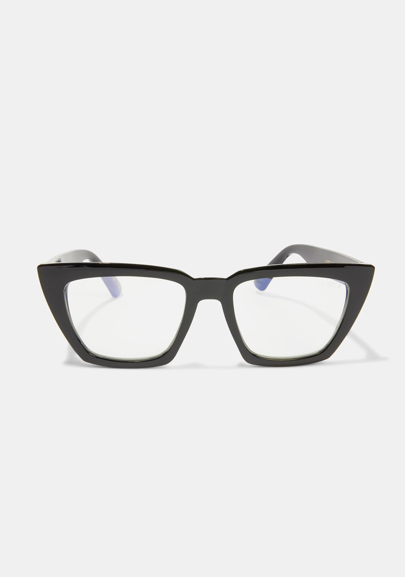 I-SEA Black Amelia Blue Light Glasses