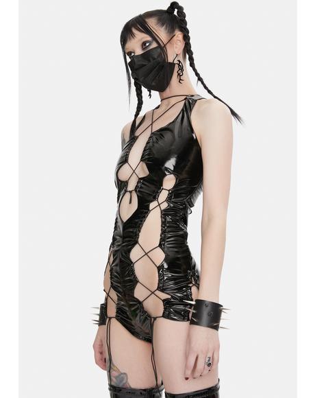 Fuckin Fire Lace-Up Bodysuit