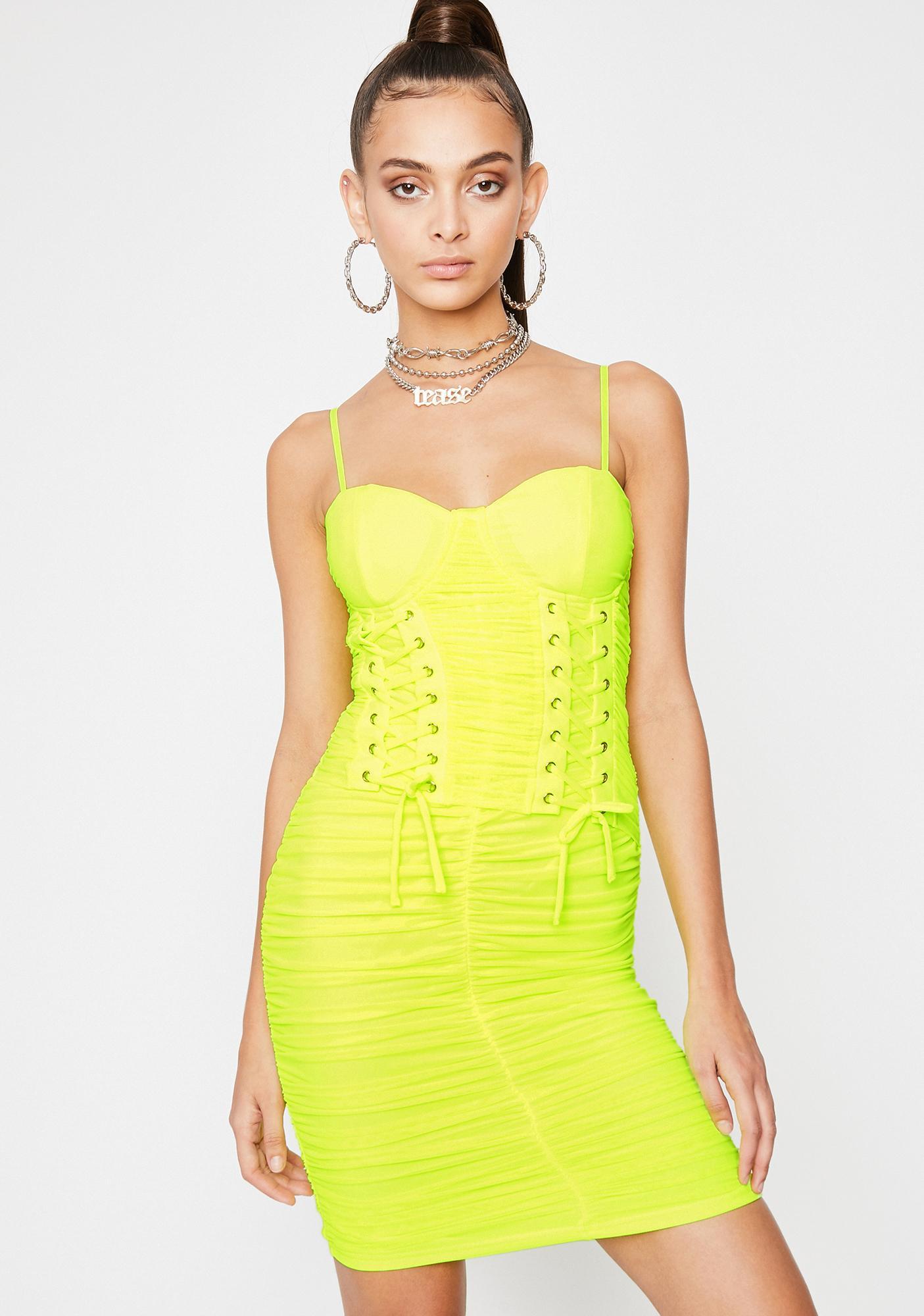 Vivid Lovely Soiree Corset Dress