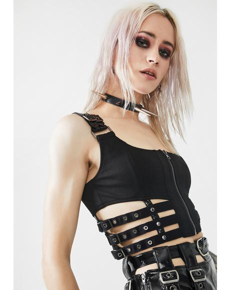Puppet Futuristic Crop Top