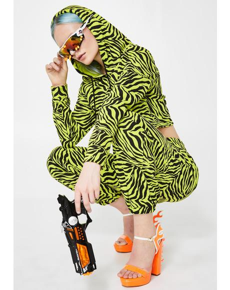 Radioactive Jungle Zebra Hoodie