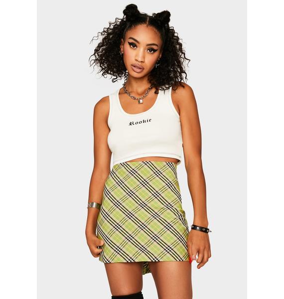 Bailey Rose Green Plaid Mini Skirt