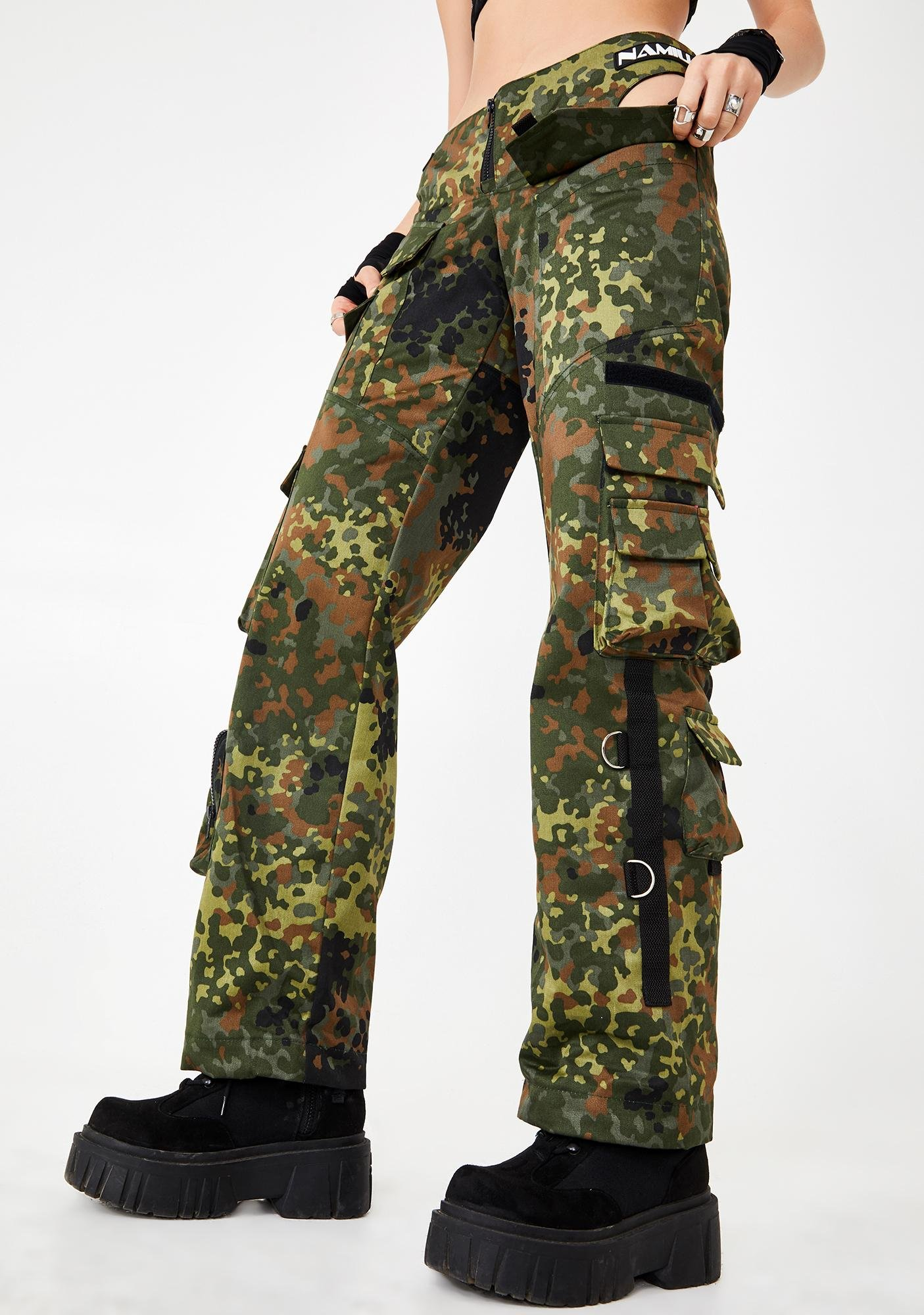 Namilia Cut-Out Camo Workwear Pants