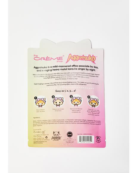 Aggretsuko Vitamin C & Jasmine Face Mask