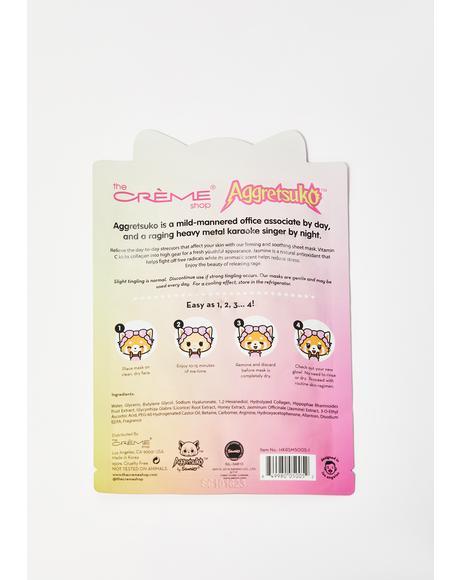 Aggretsuko Vitamin C & Jasmine Face Mask