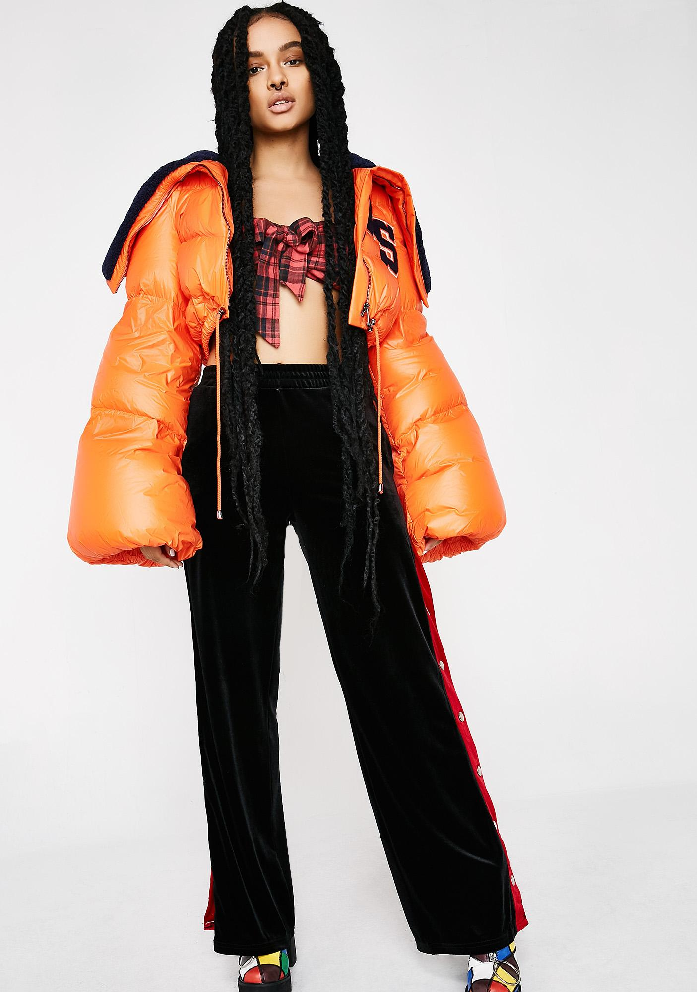 PUMA Flame FENTY PUMA By Rihanna Funnel Collar Quilted Jacket ... : puma quilted jacket - Adamdwight.com