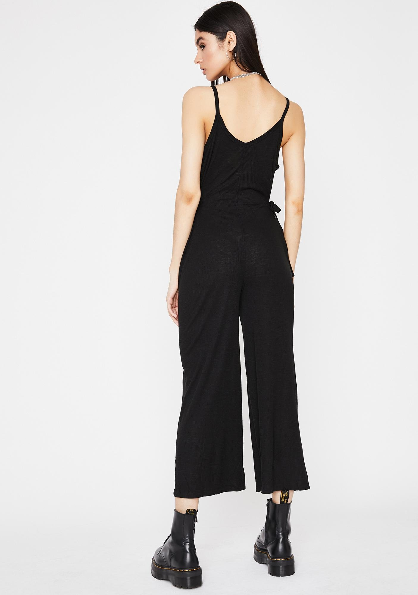 Don't Talk To Me Tank Jumpsuit