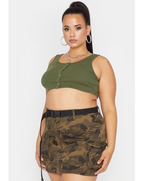 Babe Camo Lookin' For Me Cargo Skirt