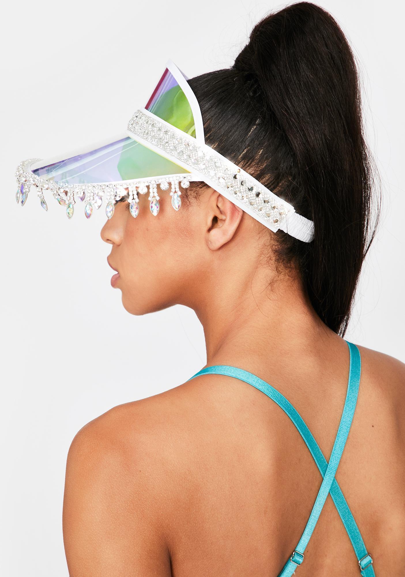 Stinnys Blue Holographic Advize Me Visor Hat